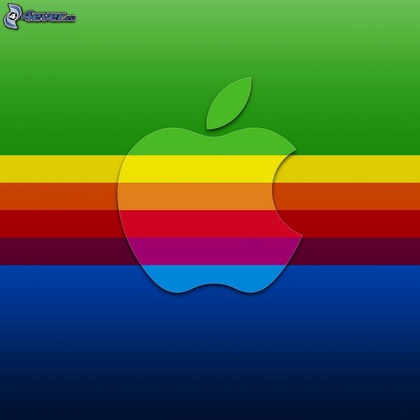 Apple, tęczowe pasy