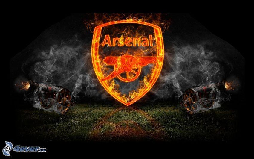 Arsenal, płomień, dym