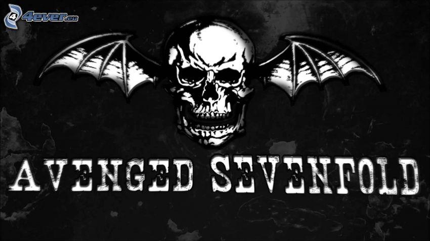 Avenged Sevenfold, czaszka, skrzydła