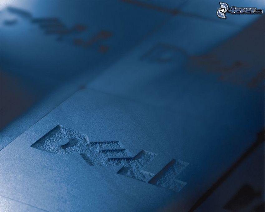 Dell, niebieskie tło