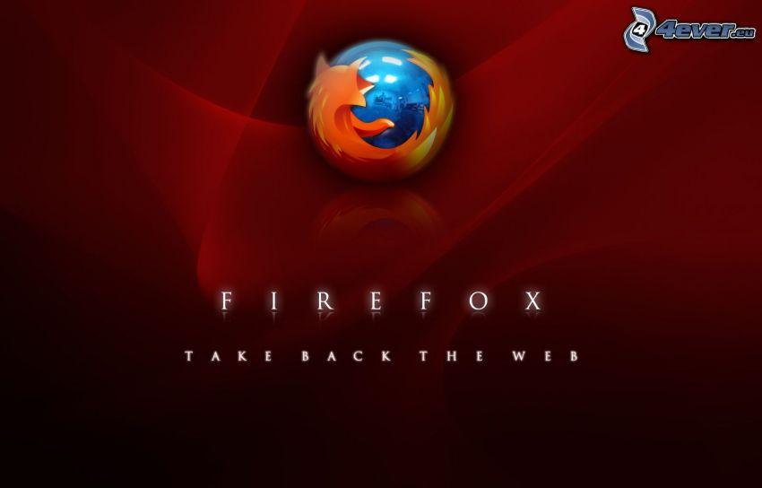 Firefox, czerwone tło