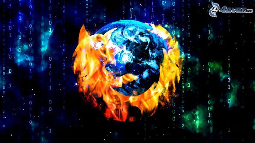 Firefox, kod binarny