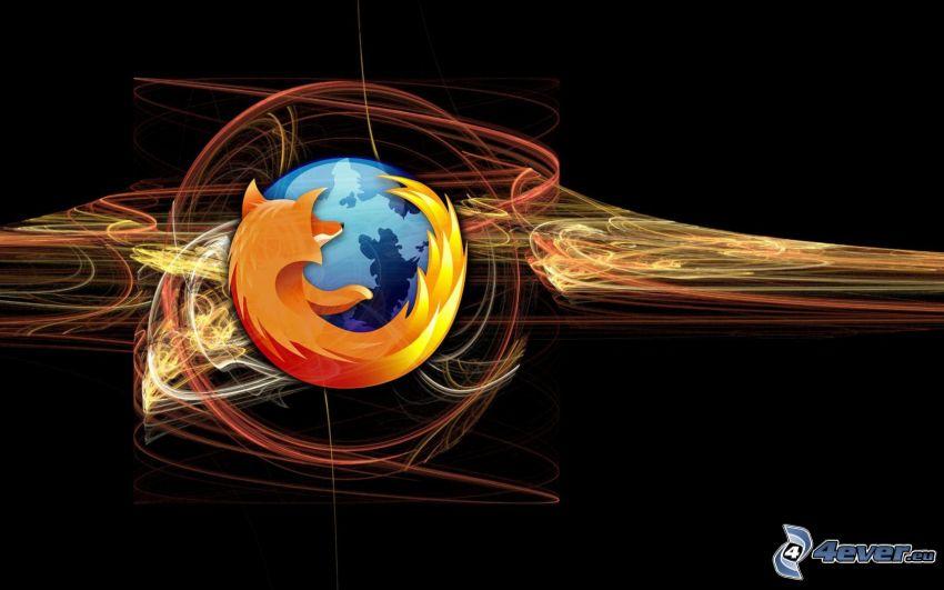 Firefox, kolorowe linie