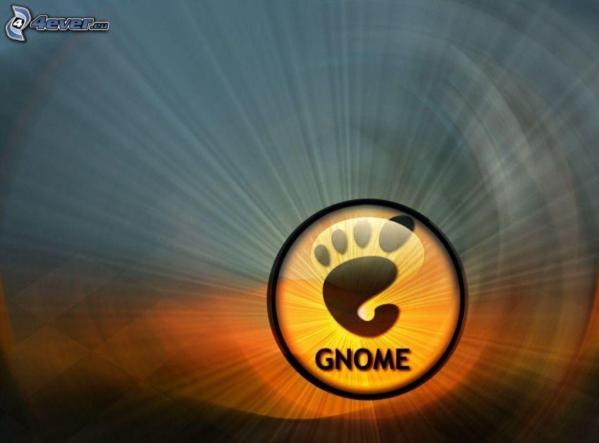 Gnome, logo, ślad