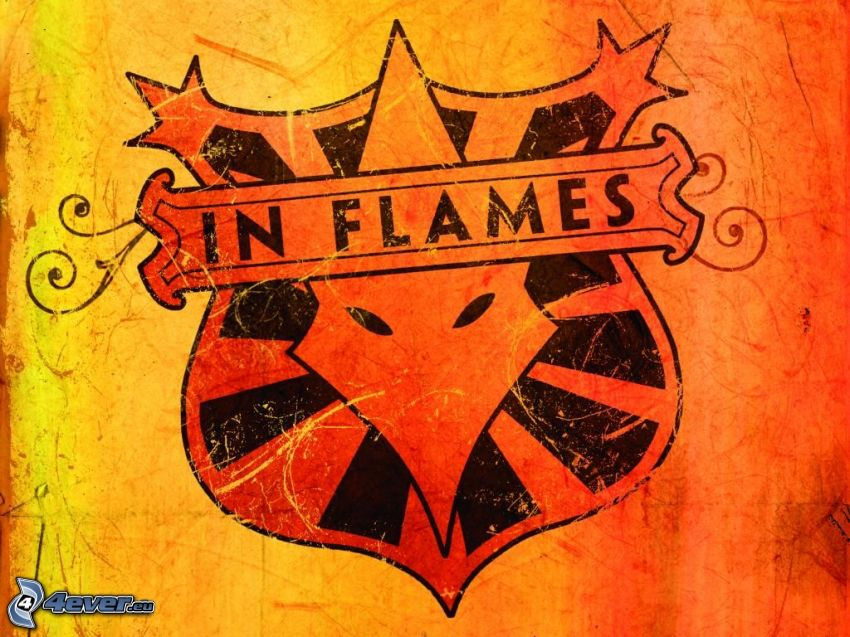 in flames, emblemat