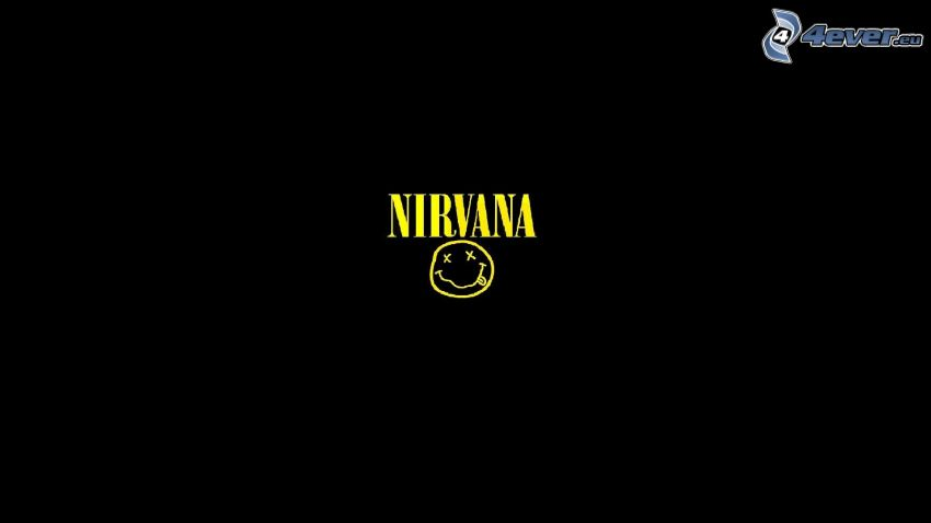 Nirvana, czarne tło