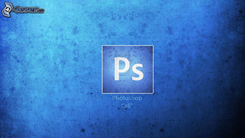 Photoshop, niebieskie tło