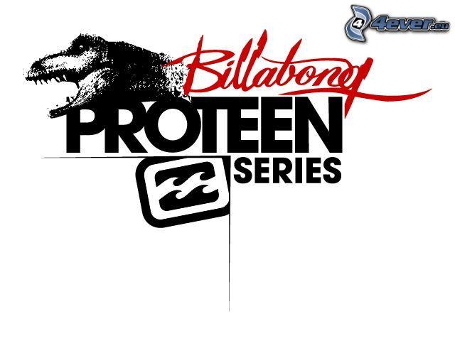 proteen, reklama, logo, billabong