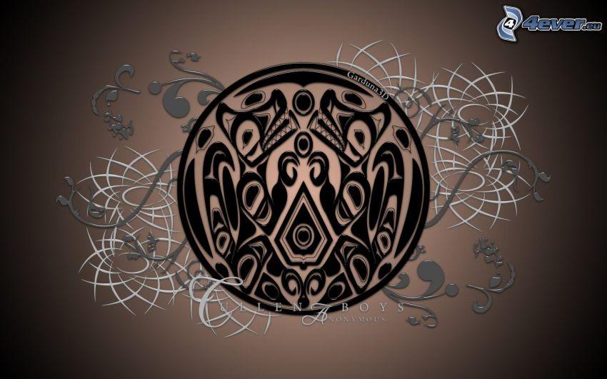Quileute, emblemat, piktogram, amulet, symbol
