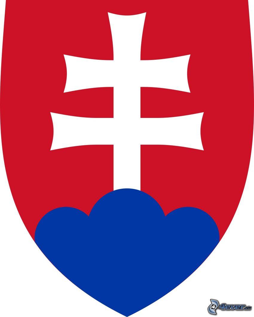 słowacki podwójny krzyż, godło Słowacji