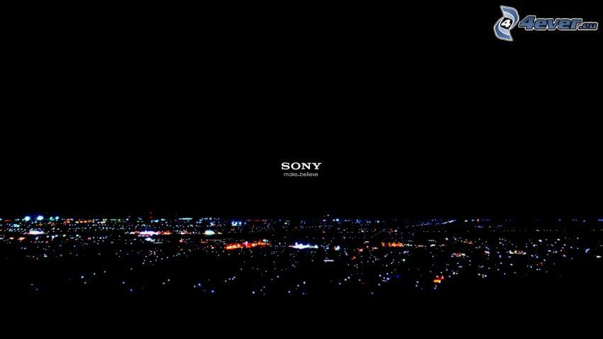 Sony, miasto nocą