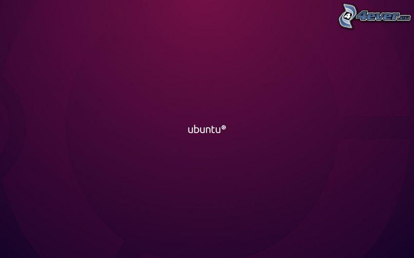 Ubuntu, fioletowe tło