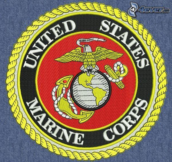 U.S. Marine Corps, logo, emblemat, naszywka