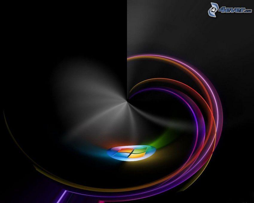 Windows, kolorowe linie