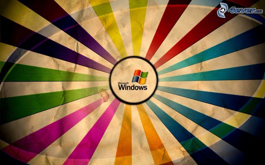 Windows, kolorowe paski