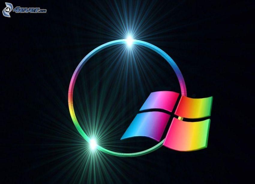 Windows, krąg, światło