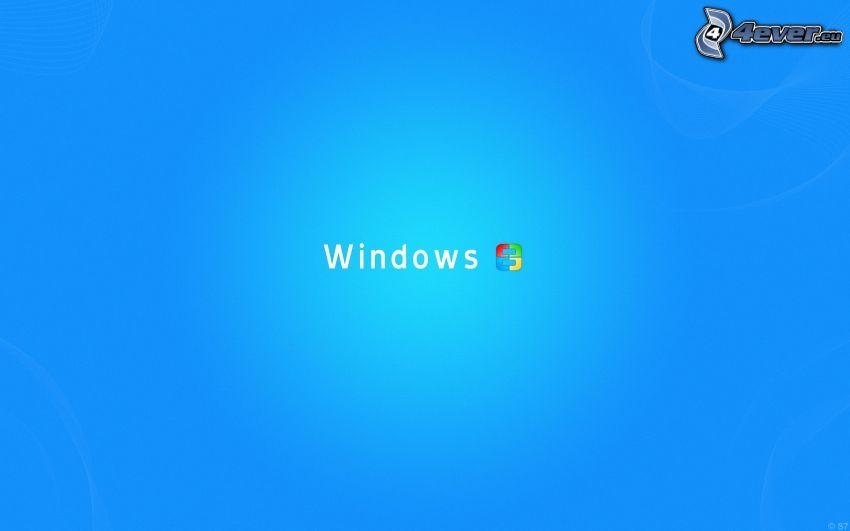 Windows, niebieskie tło