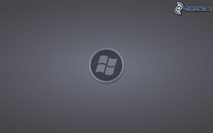 Windows, szare tło