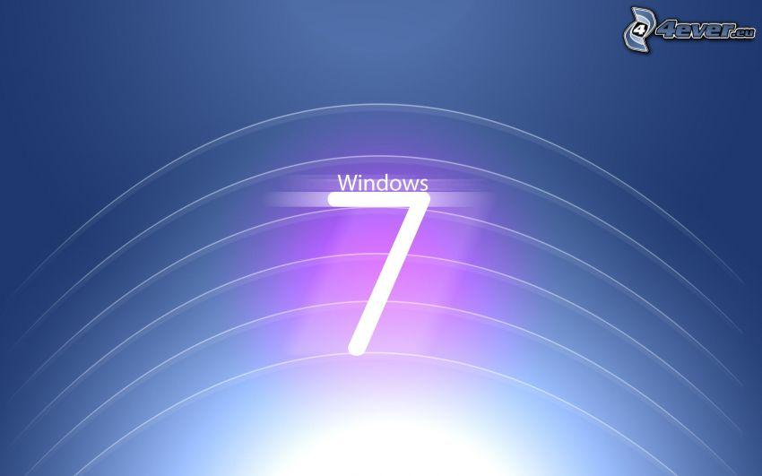 Windows 7, białe linie