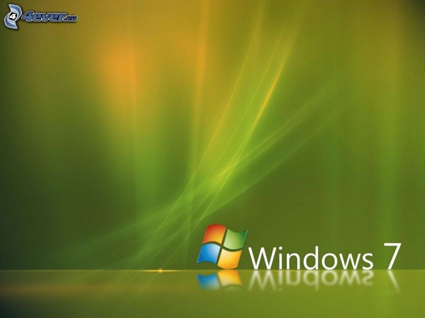 Windows 7, zielone tło