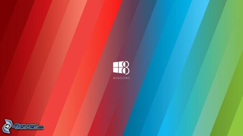 Windows 8, kolorowe paski