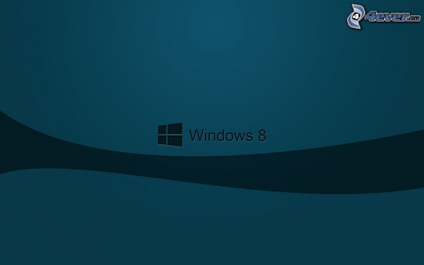 Windows 8, niebieskie tło