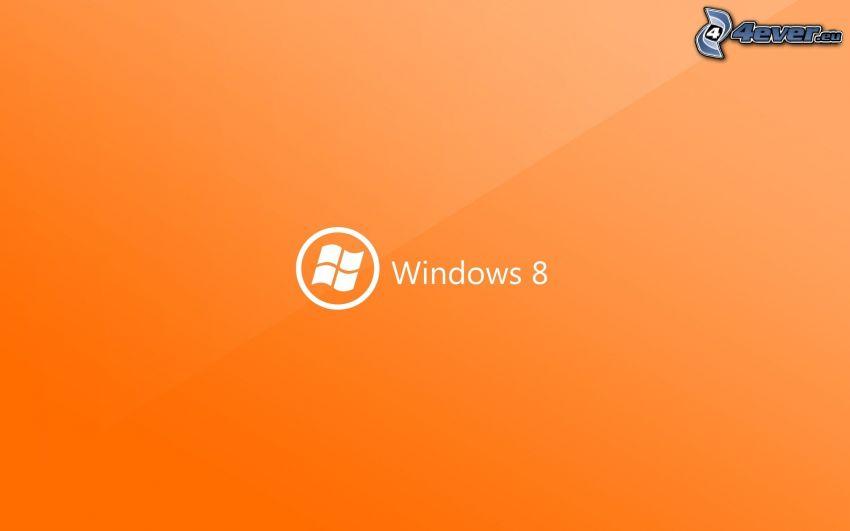 Windows 8, pomarańczowe tło
