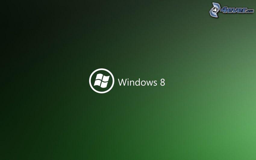 Windows 8, zielone tło
