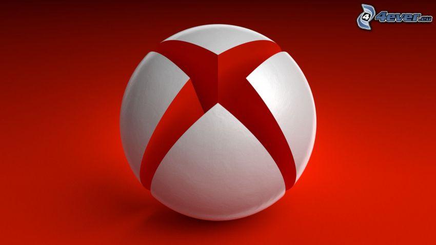 Xbox, czerwone tło