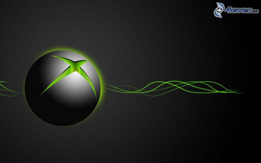 Xbox, fale, szare tło