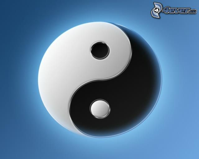 yin yang, symbol, równowaga