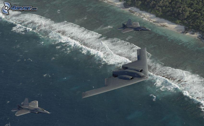 B-2 Spirit, wybrzeże