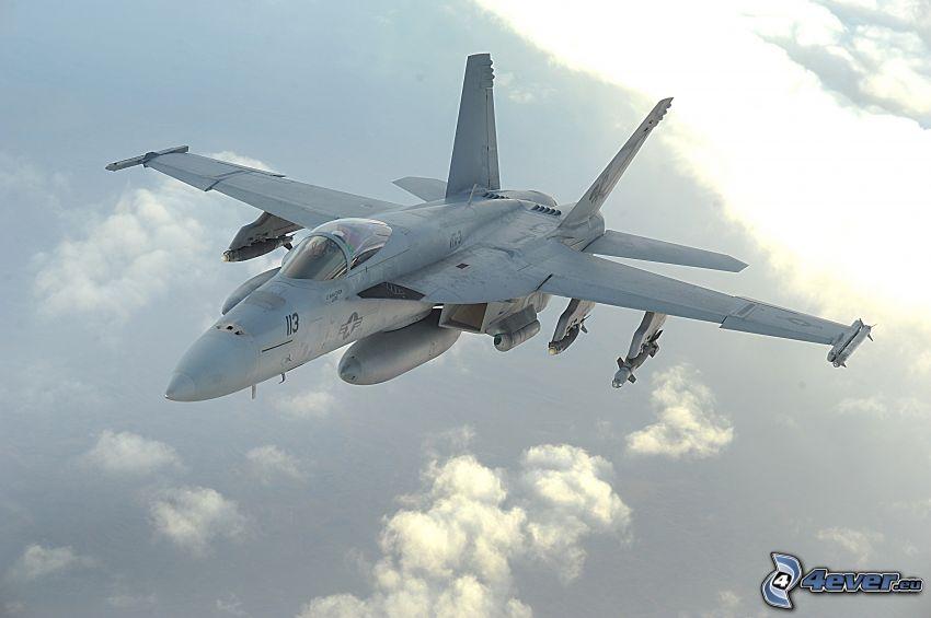 F/A-18E Super Hornet, ponad chmurami