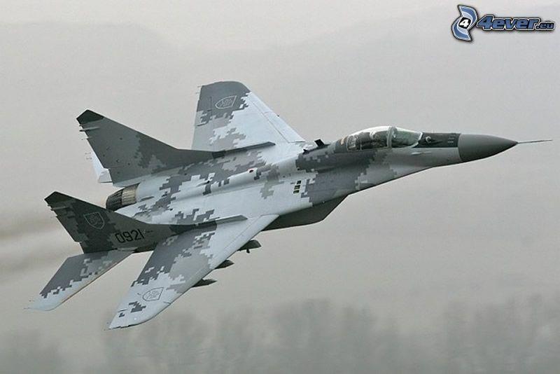 MiG-29, kamuflaż, myśliwiec