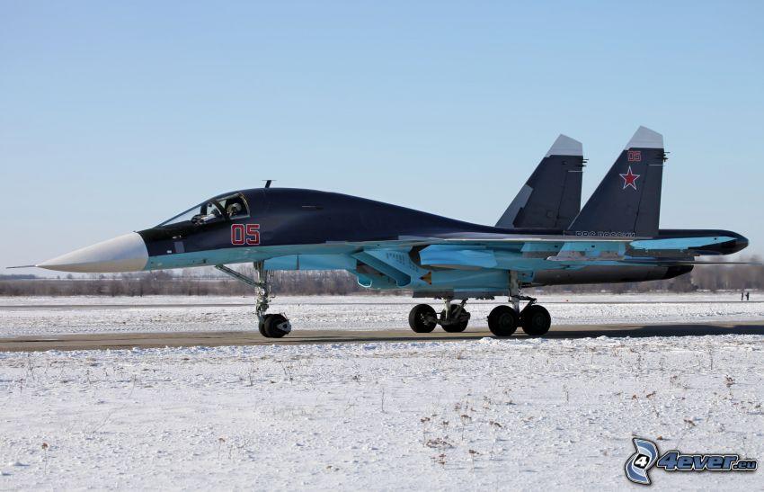 Sukhoi Su-24, śnieg
