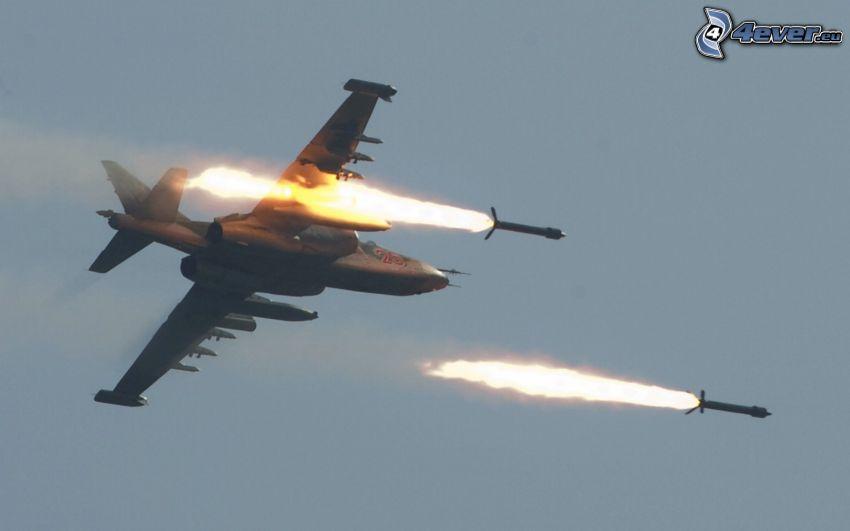Sukhoi Su-25, strzał