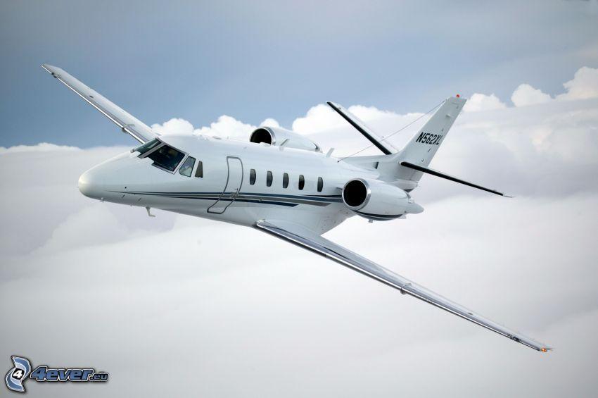 Citation X - Cessna, ponad chmurami