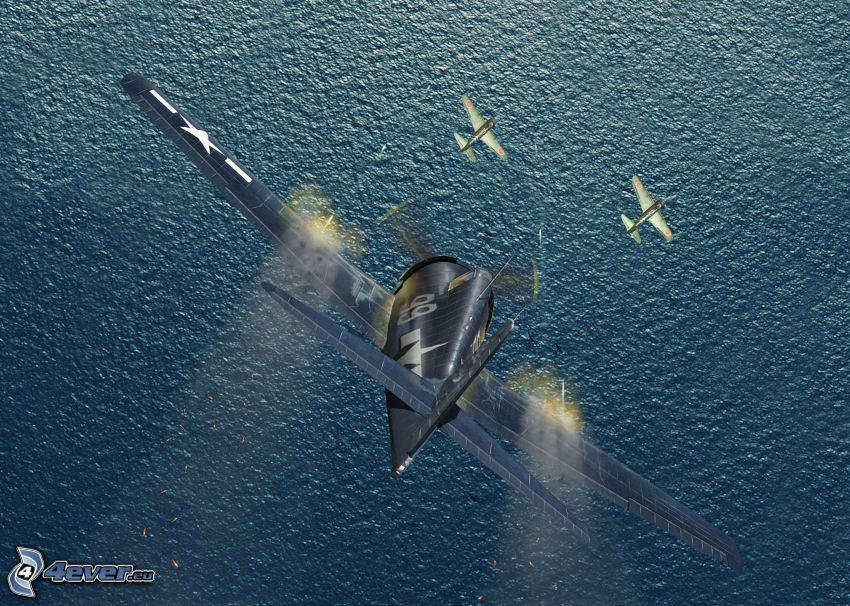 samoloty, morze