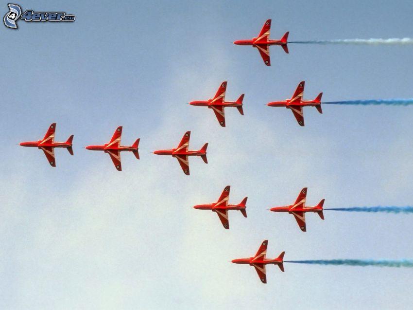 samoloty, powietrzny pokaz
