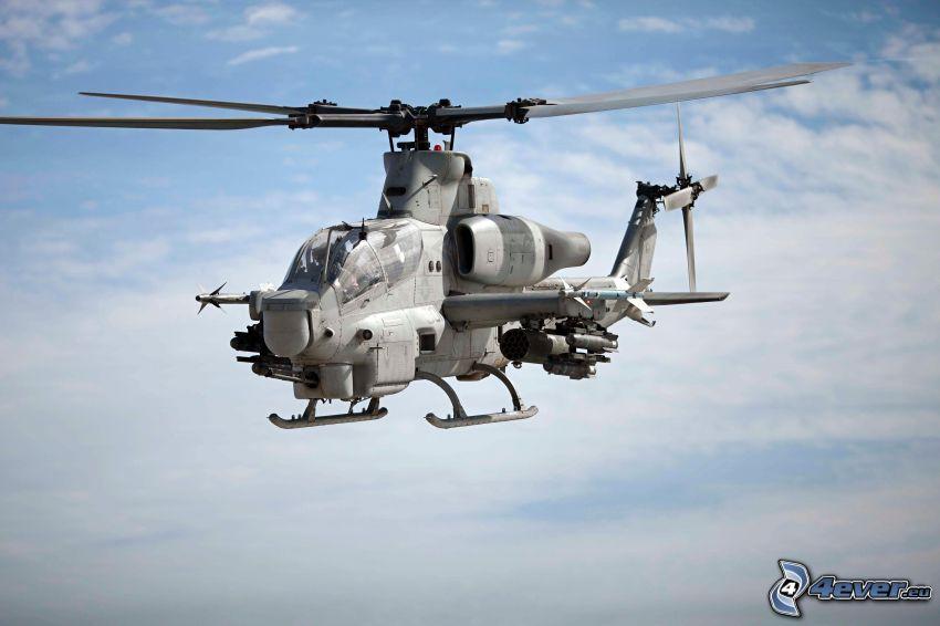 AH-1Z Viper, wojskowy śmigłowiec, chmury