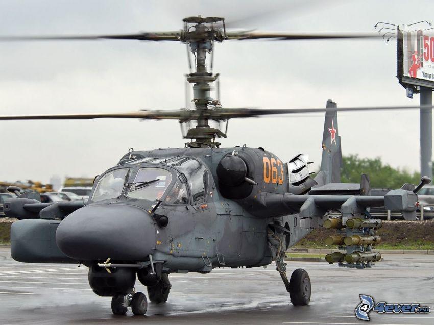 Ka-52, lotnisko