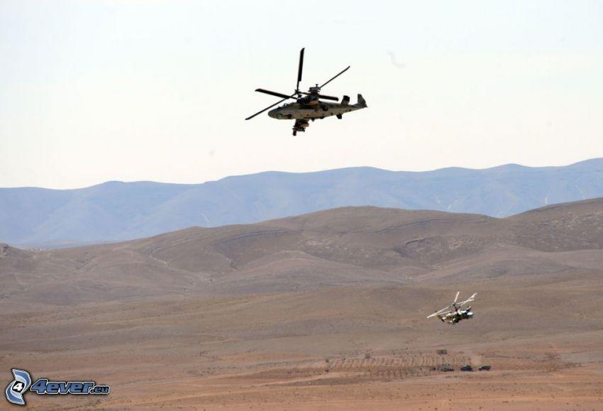 Ka-52, pustynia