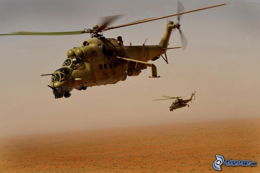 Mil Mi-24, wojskowy śmigłowiec