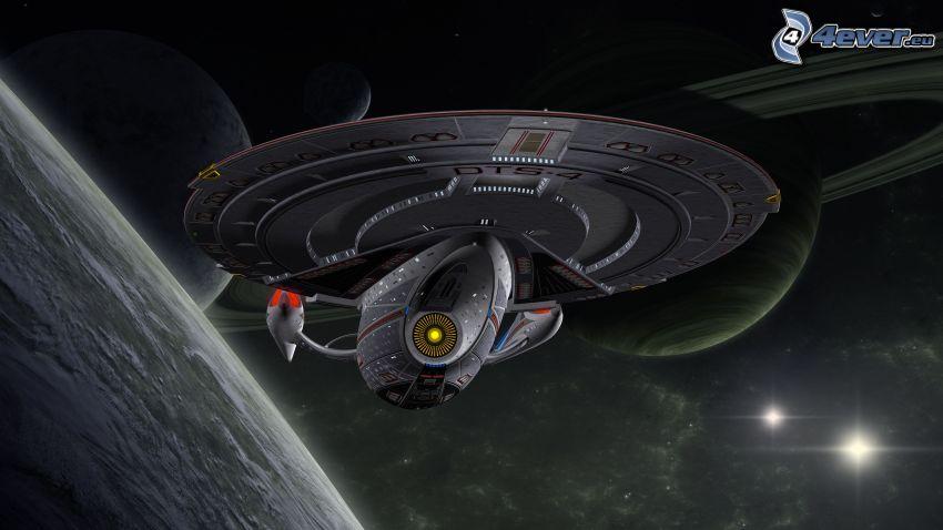 statek kosmiczny, planety