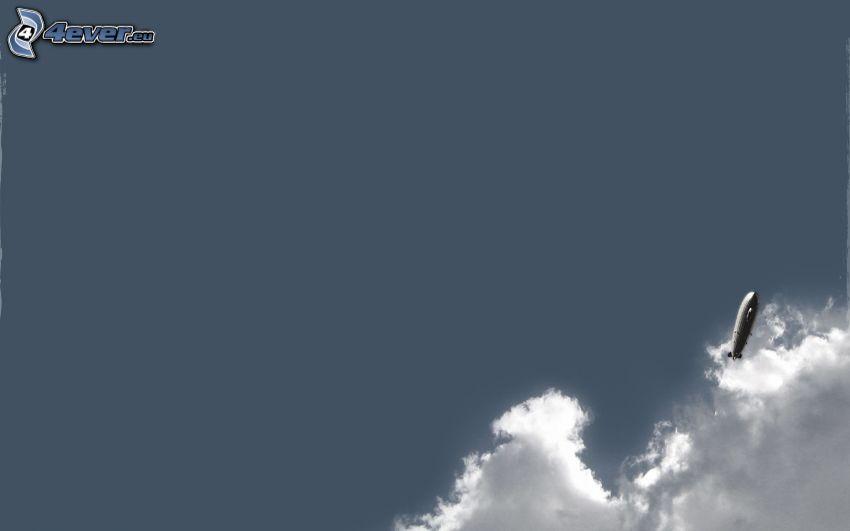 sterowiec, chmury