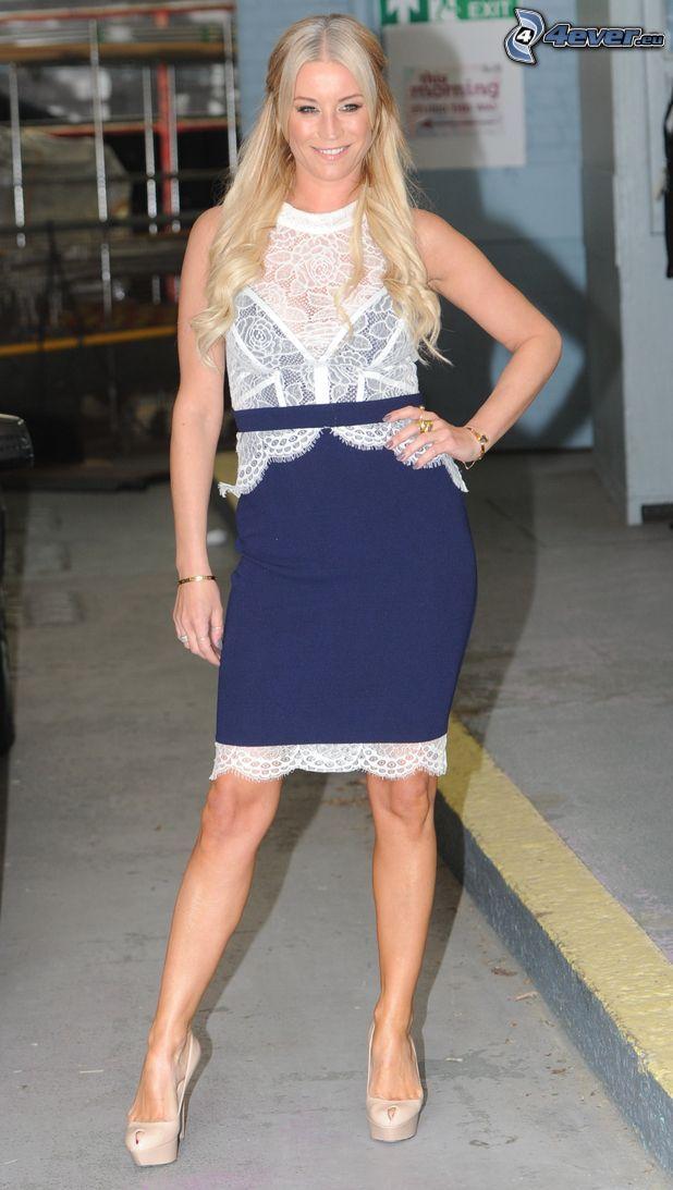 Denise van Outen, niebieska sukienka