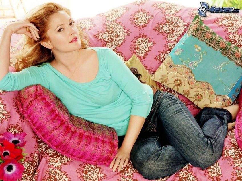 Drew Barrymore, różowy