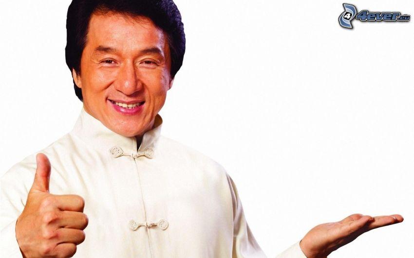 Jackie Chan, kciuk w górę