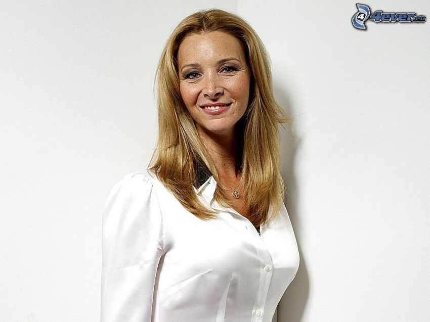 Lisa Kudrow, biała koszula