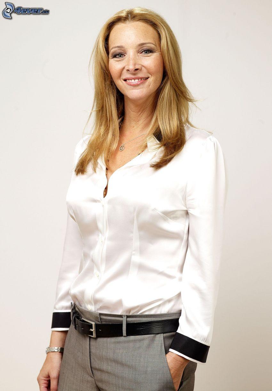Lisa Kudrow, uśmiech, biała koszula